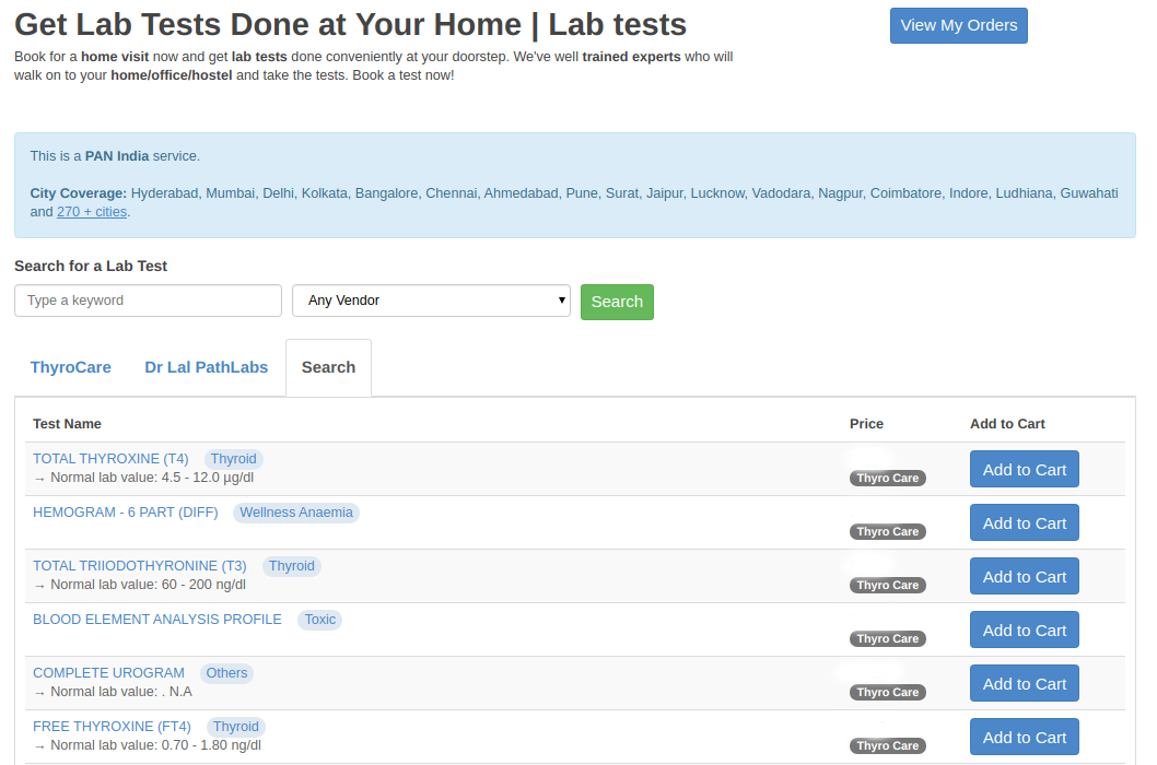 Lab Test at Home | iCliniq Help Center